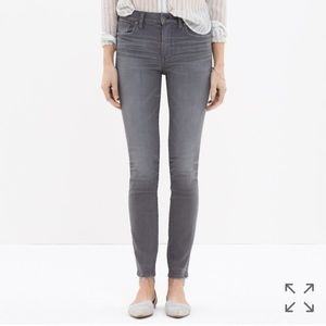 """Madewell 9"""" High Rise Skinny Jeans, Dusty Wash"""